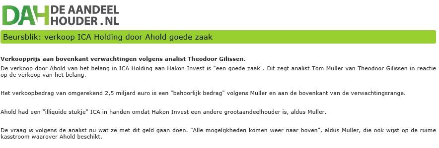 aandelen ahold kopen aandeelhouder